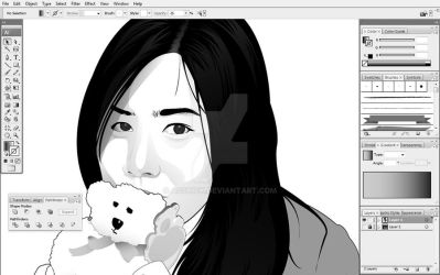 WIP: Agnes Vector BW screencap by asskick