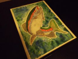 Rainbow Trout Watercolor + Vid by InuHalfDemon
