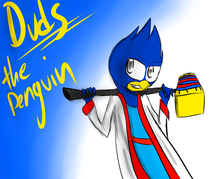 Duds the Penguin (Art Trade) by MidnightBlaze16