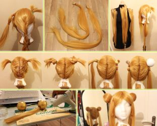 WIP of Sailor Moon Wig by Yuiko-Ame