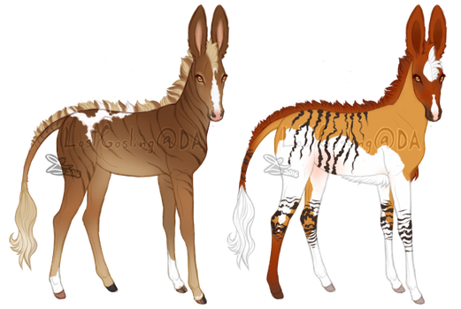 Baby Junii and Hasufel by LostGosling