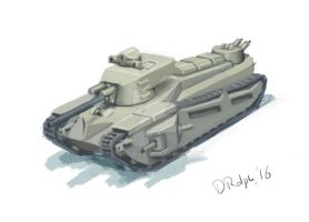 Landship tank doodle by cthelmax