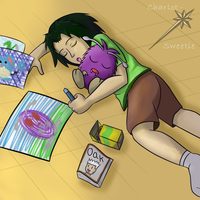 Young Tracy and Venonat
