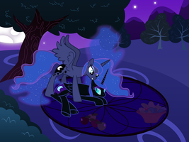 Nightmare and Luna Playing (1) (Full Scene) by 90Sigma