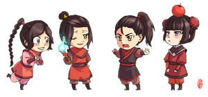 Chibi FireNation Children by kelly1412