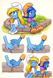 Smurfs: Stormfette hands by rinacat