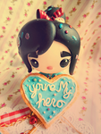 Wreck it Ralph Vanellope Youre My Hero Cookie by KeoDear