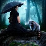 Once in the woods during a rain... by Lady-Vilna