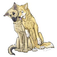 Monty and Latchme by DiamondEden