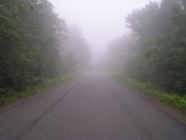 Foggy road by CorporalClown