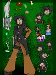 ref sheet: racheal ruthless by Rembourrage