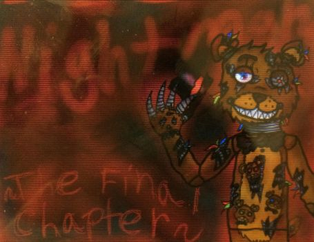 Nightmare Freddy and Fredlings by Sabertoothfoxy