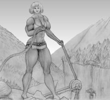 muscle woman worker by MuscleWomen-Planet