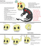 Skull imp general sheet by Cheshiretails