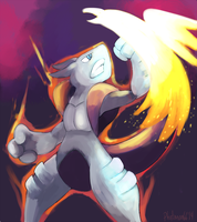 Commission Mewtwo X Falcon Punch by Phatmon