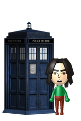 Mii with TARDIS by RatedrCarlos
