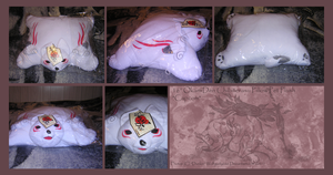 :OkamiDen Chibiterasu Pillow: by BeachBumDunkin