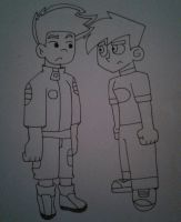 Jake long and danny fenton by Ashartz123