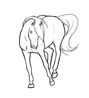 .Bucking horse Lineart. by xRedLily