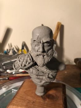WIP - God of War - Kratos Bust by CultureSculpts