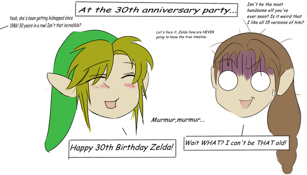 Zelda LOLS- 30th Anniversary Party by CameronWasTaken
