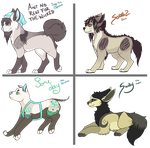 Song Themed Dog Adoptables by drvgs