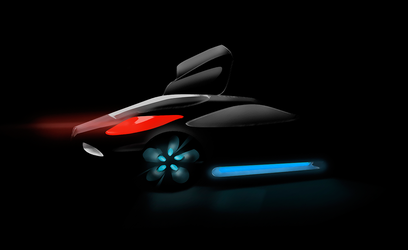 Black Knight Concept Car by Dr-Bee