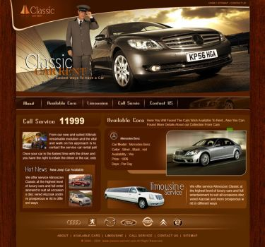 Car Rent ,, web template by Mood-man