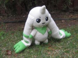 Life/Anime Size (almost) Terriermon Amigurumi by TallGrassArt