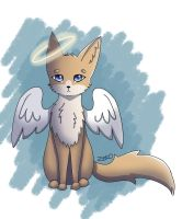 angel fox (digital version) by Captain-Zeko