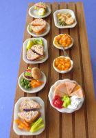 1:12 Scale Mini Foods by MotherMayIjewelry