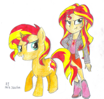 Fan Art - Sunset Shimmer by KrytenMarkGen-0