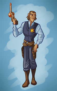 Coyote Alameda, the sheriff by SirCyanblue