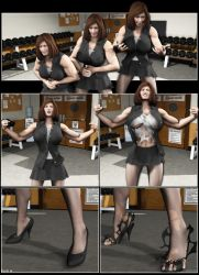 Silent Muscle Giantess Comic 10 by Stone3D