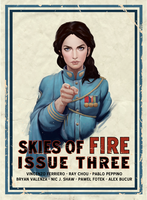 Skies of Fire Issue 3 Variant Cover by Icecoldart