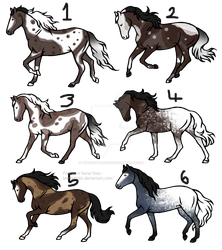 15 point horse adopts [0/6] -CLOSED- Batch 10 by TheAdoptArtist