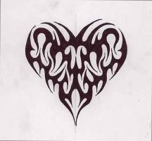 Heart tribal by jakofheartz5870