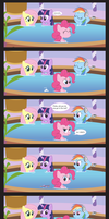 Comic Block: Bubbles in the Tub by dm29