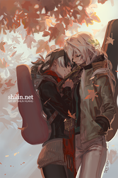 Violinist and Cellist - sketch for Patreon by shilin