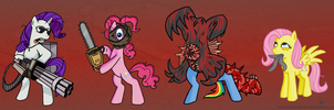 Resident Pony- No Blood by SorcerusHorserus