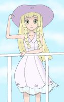 Lillie on ship colored by frolka