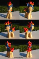 Cyndaquil Ponymon by ChibiSilverWings