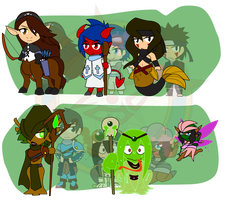 Assorted Chibis - Monster Mastery by Dragon-FangX
