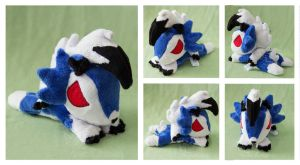 Shiny Midnight Lycanroc Beanie by areica