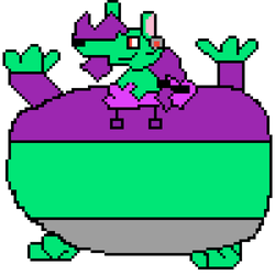 Inflated Pixel Lance by SpoderLink