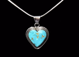 Turquoise heart pendant by FlagstaffTraders