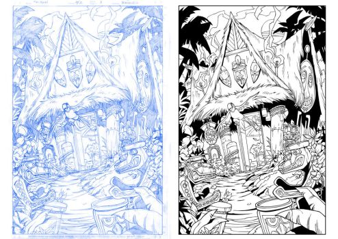 Enchanted Tiki-Room Inks by rj-gonzalez