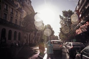 rain in Paris 2 by Lucem