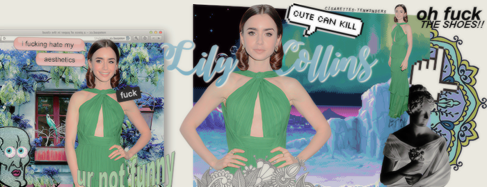 Timeline 'LilyCollins' | green everywhere by cigarettestenwonders