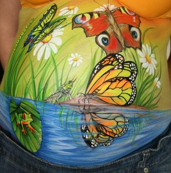 Bellypainting Teich by iacubino